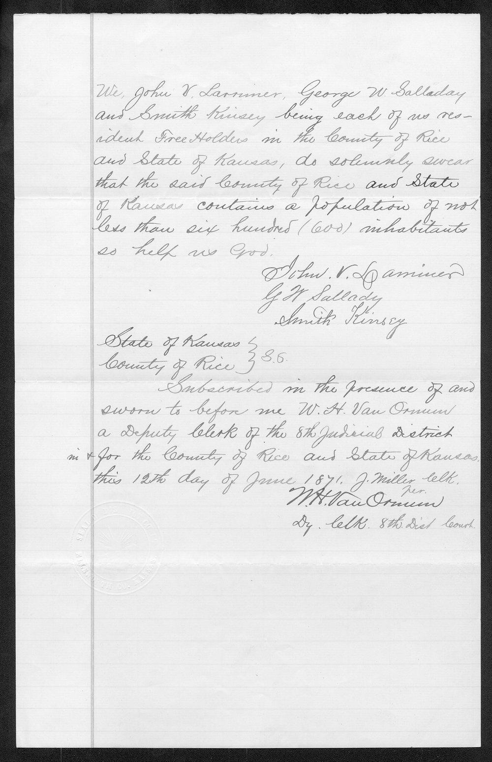 Rice County organization files - 8