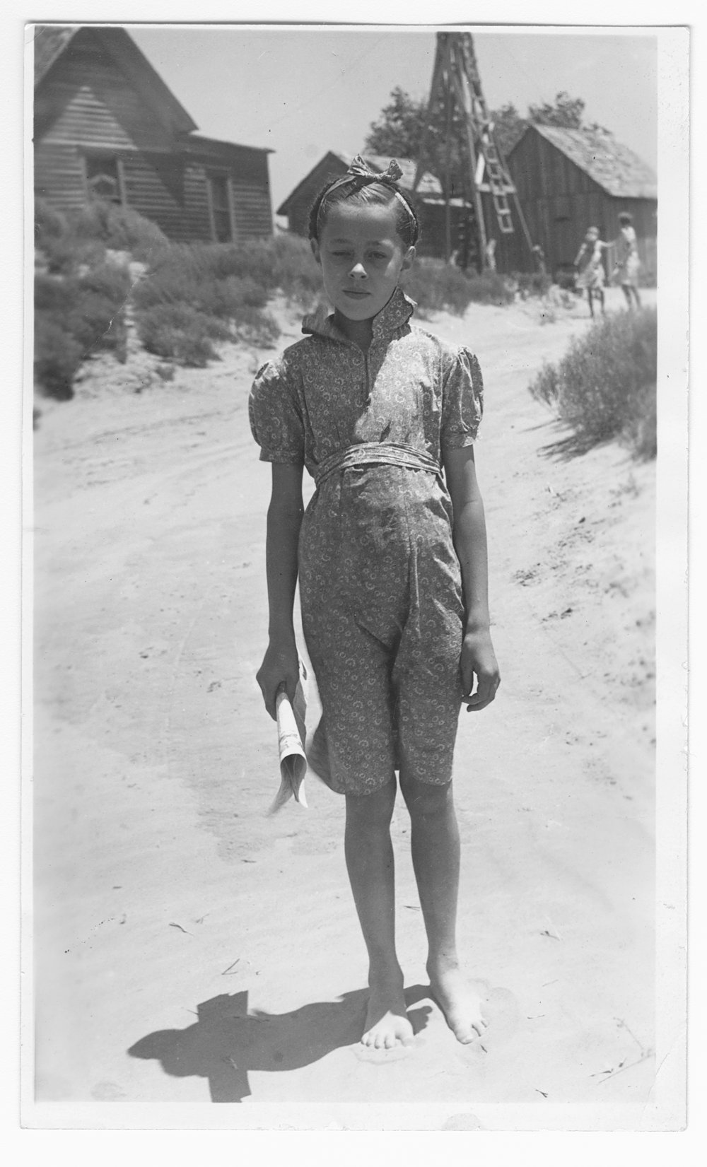 A young girl, Gray County, Kansas