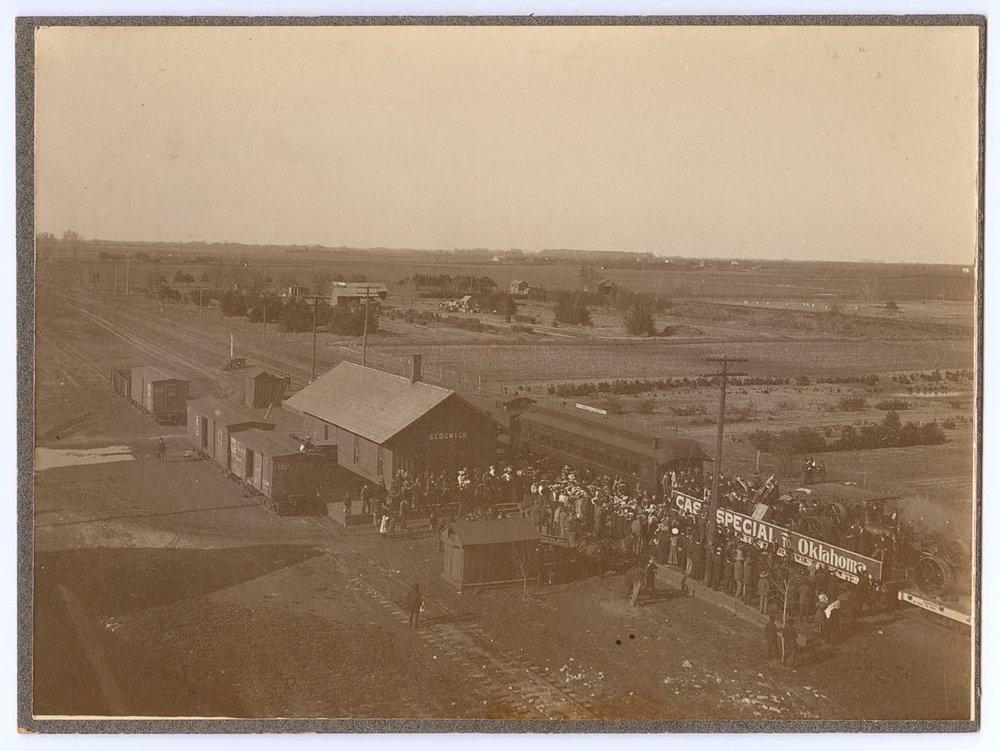 Atchison, Topeka and Santa Fe Railway Company's special train, Sedgwick, Kansas