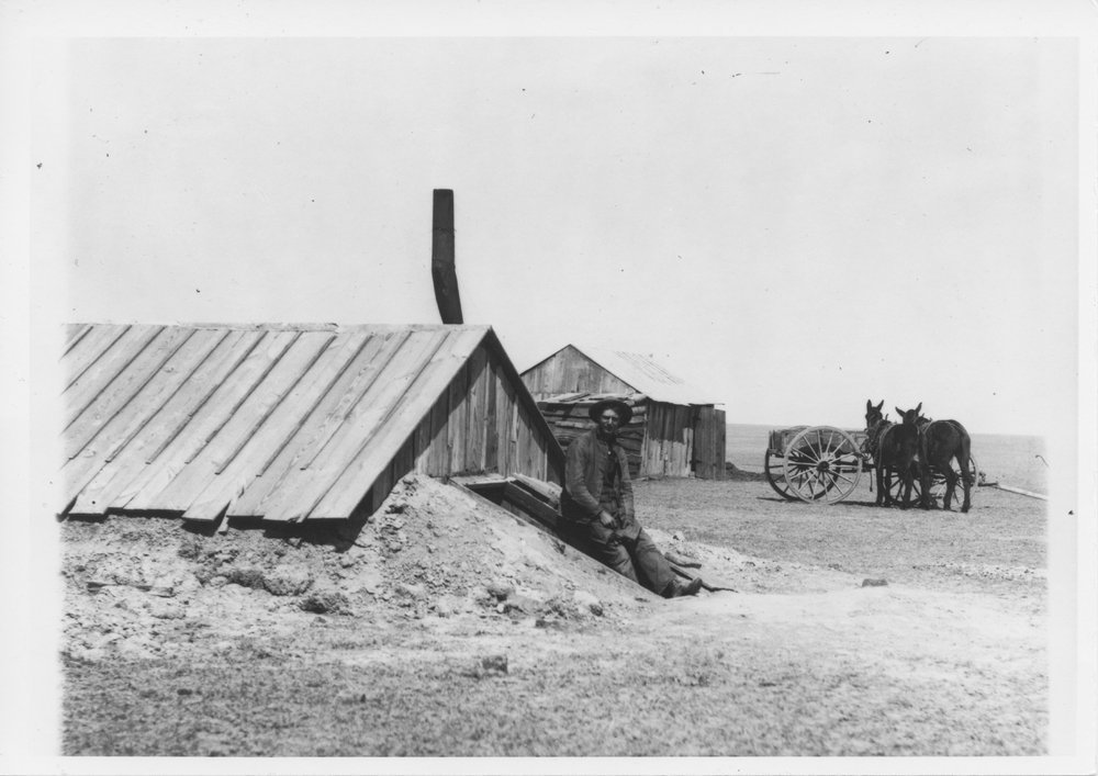 Dugout home in Greeley County, Kansas - 1