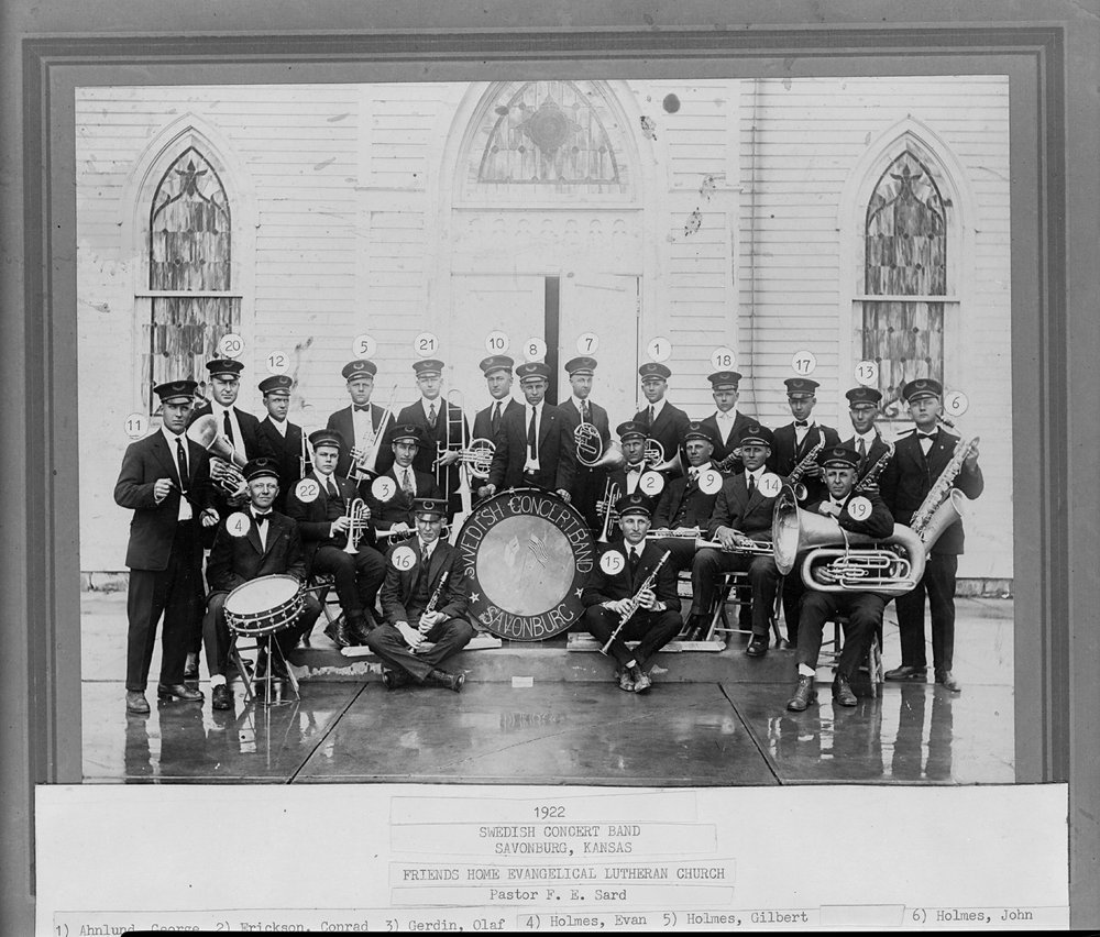 Swedish Concert Band, Savonburg, Kansas - 1