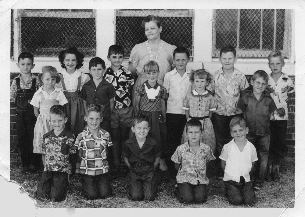 School children and teacher, Treece, Kansas