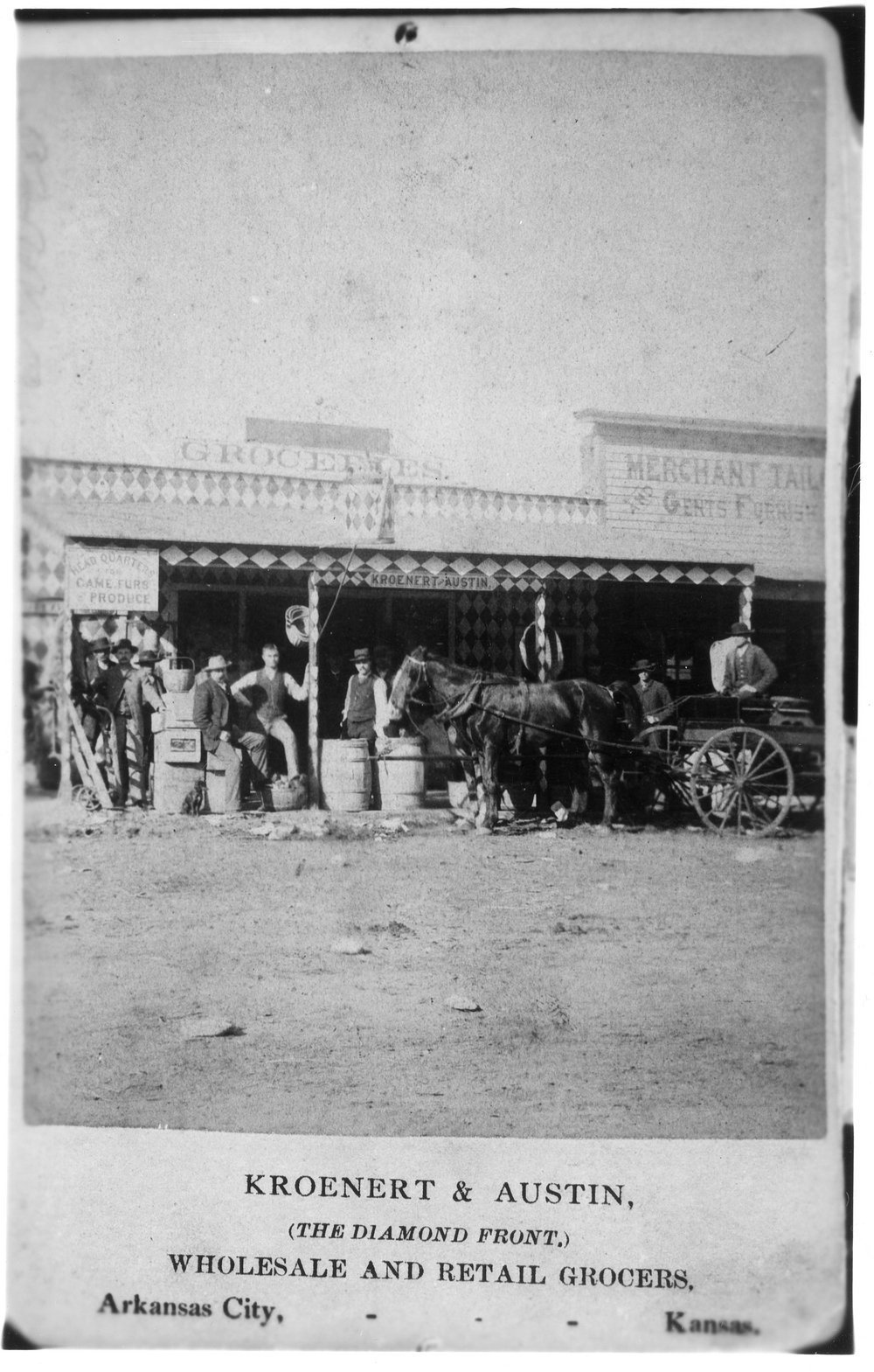 Kroenert & Austin Grocers, Arkansas City, Kansas