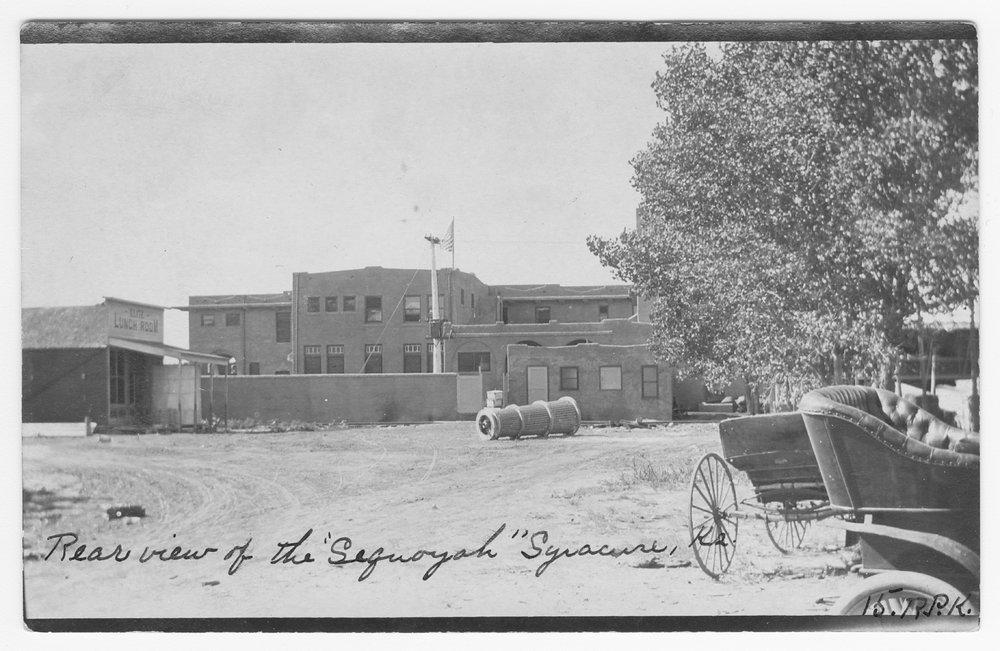 Atchison, Topeka and Santa Fe Railway Company depot and Fred Harvey Sequoyah Hotel, Syracuse, Kansas