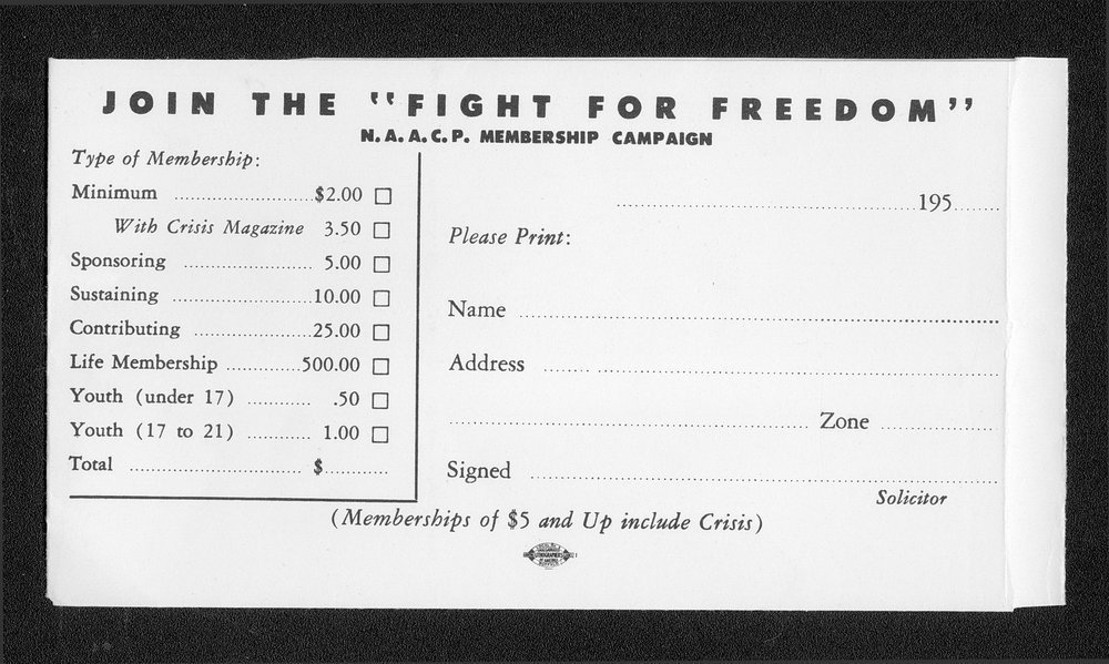"""Join the """"fight for freedom"""" N.A.A.C.P membership campaign - 1"""