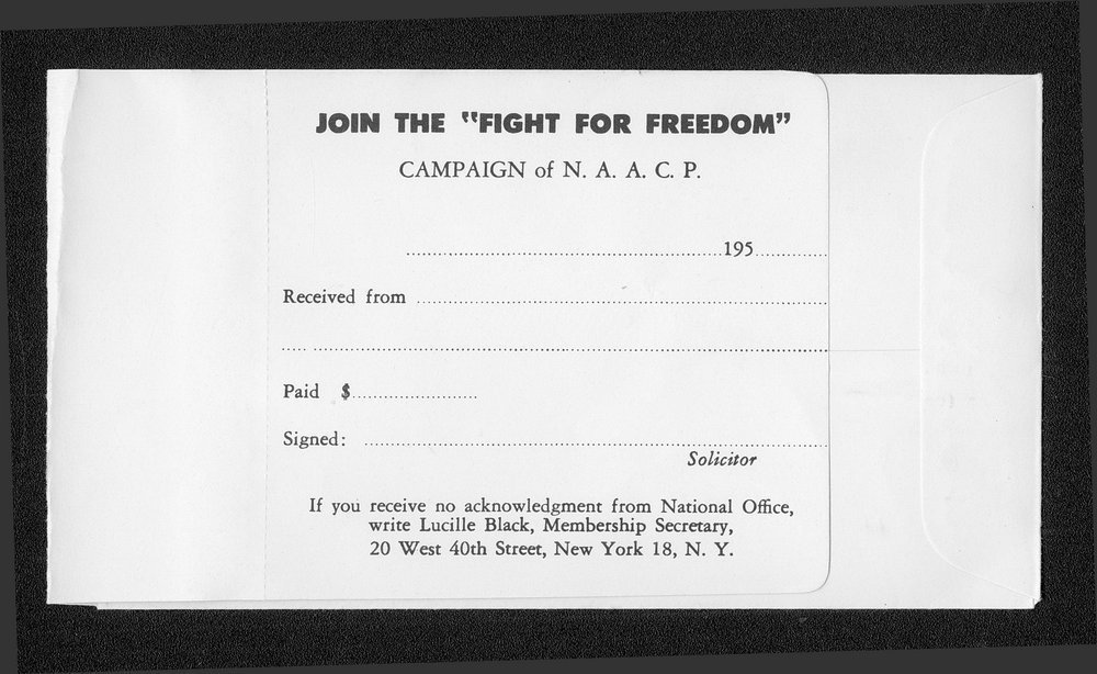 "Join the ""fight for freedom"" N.A.A.C.P membership campaign - 2"