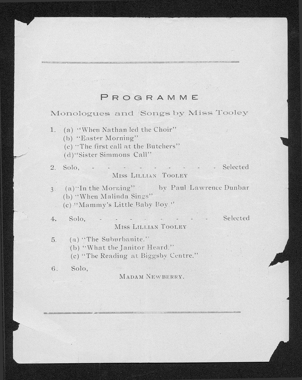 N. Clark Smith presents Miss Lillian Tooley - 4