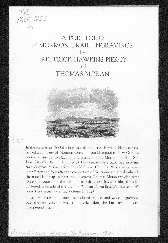 A Portfolio of Mormon Trail Engravings - 1