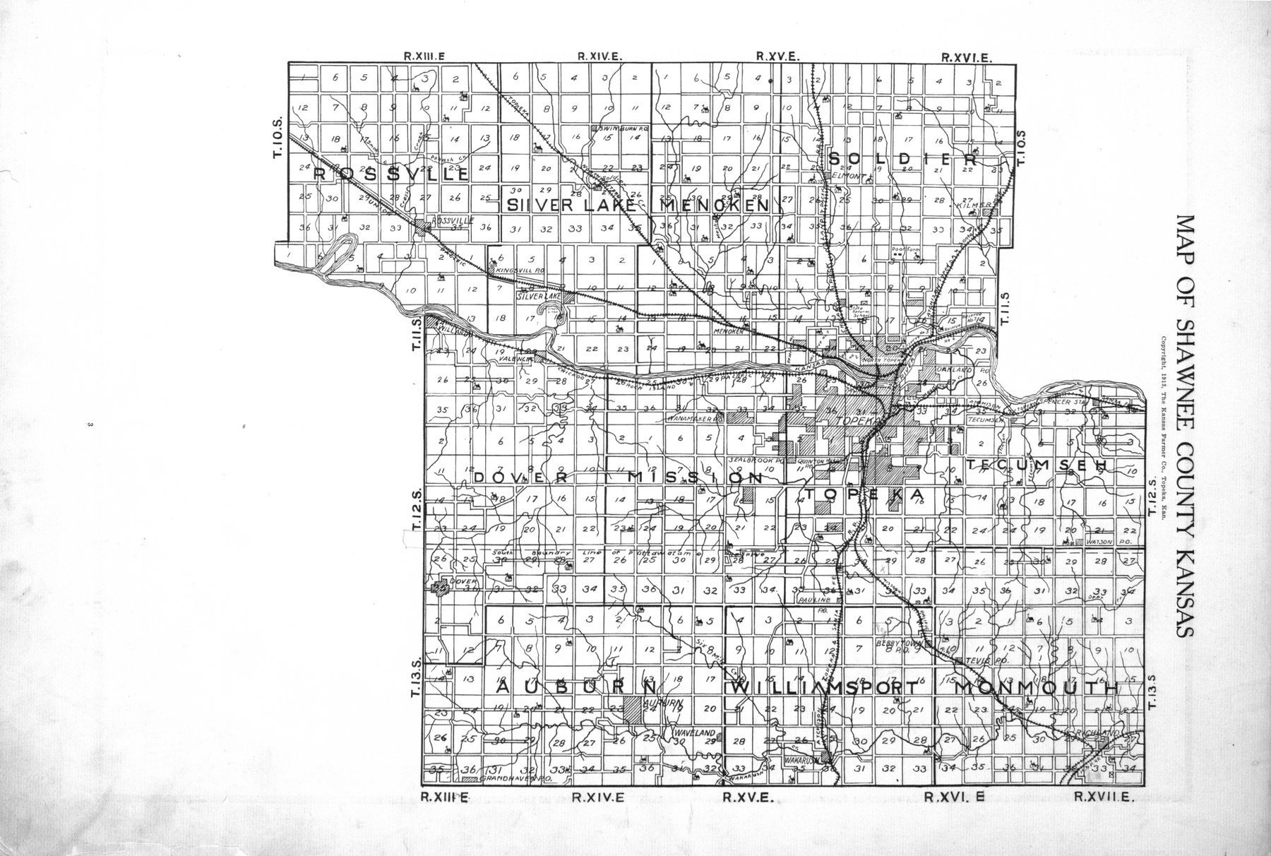Plat book, directory and survey of Shawnee County, Kansas - 3