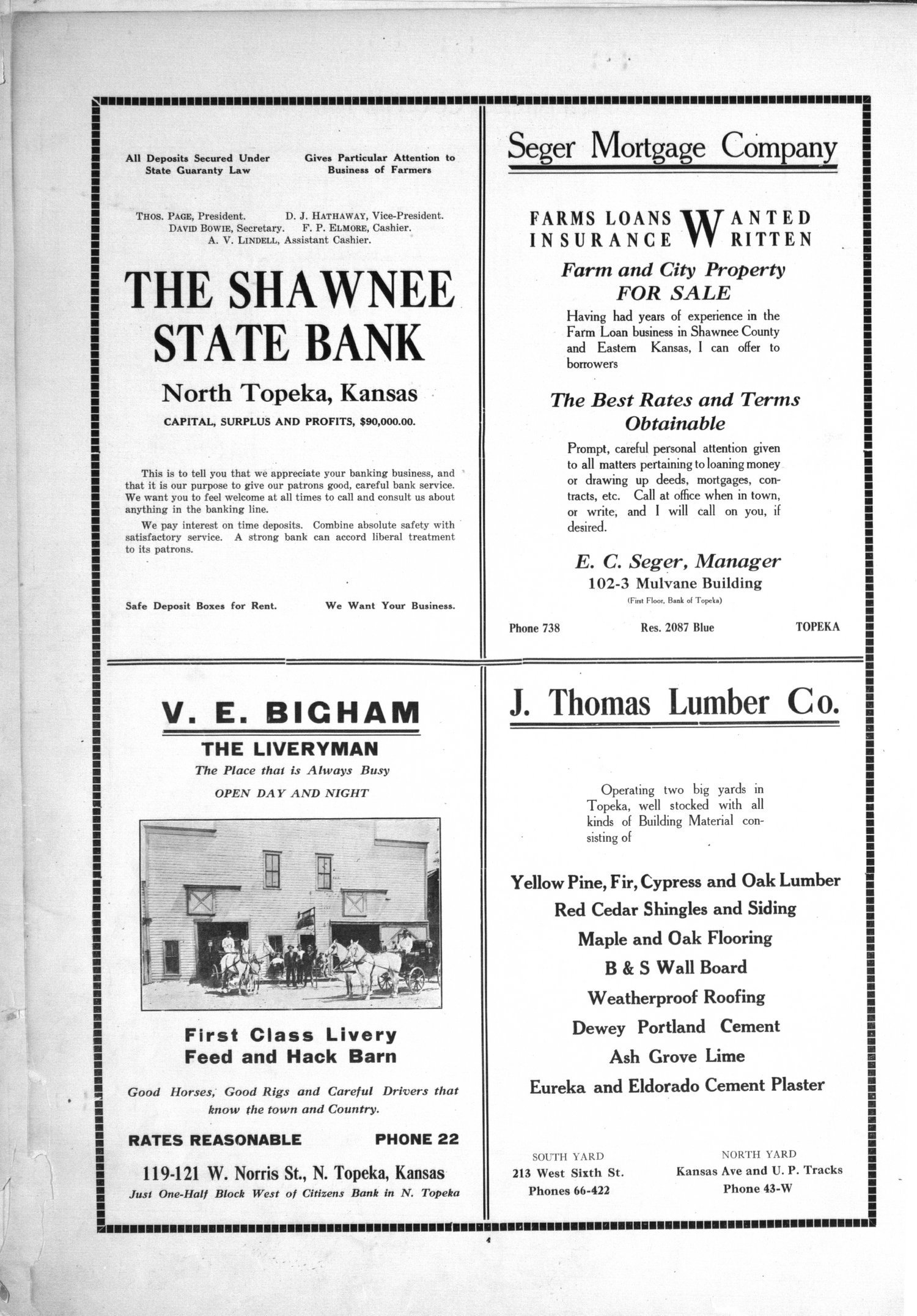 Plat book, directory and survey of Shawnee County, Kansas - 4