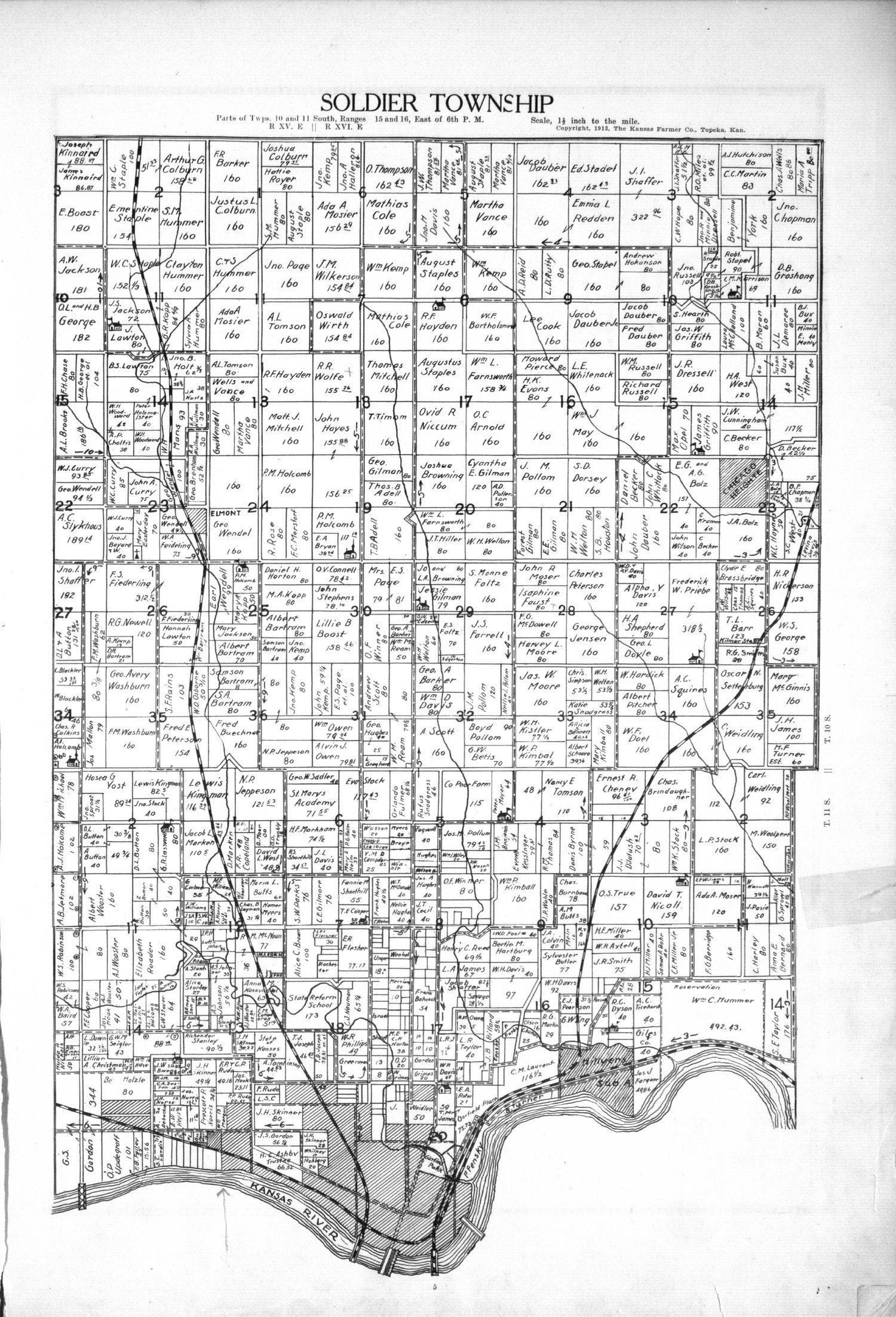 Plat book, directory and survey of Shawnee County, Kansas - 5