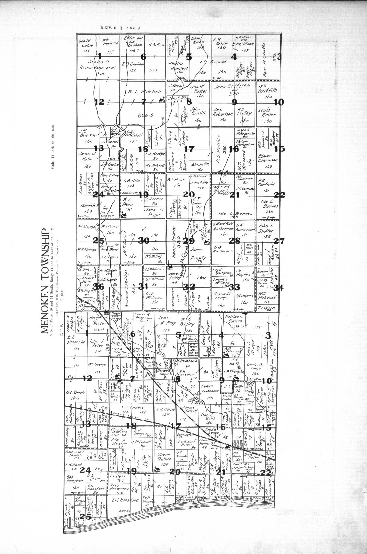 Plat book, directory and survey of Shawnee County, Kansas - 7