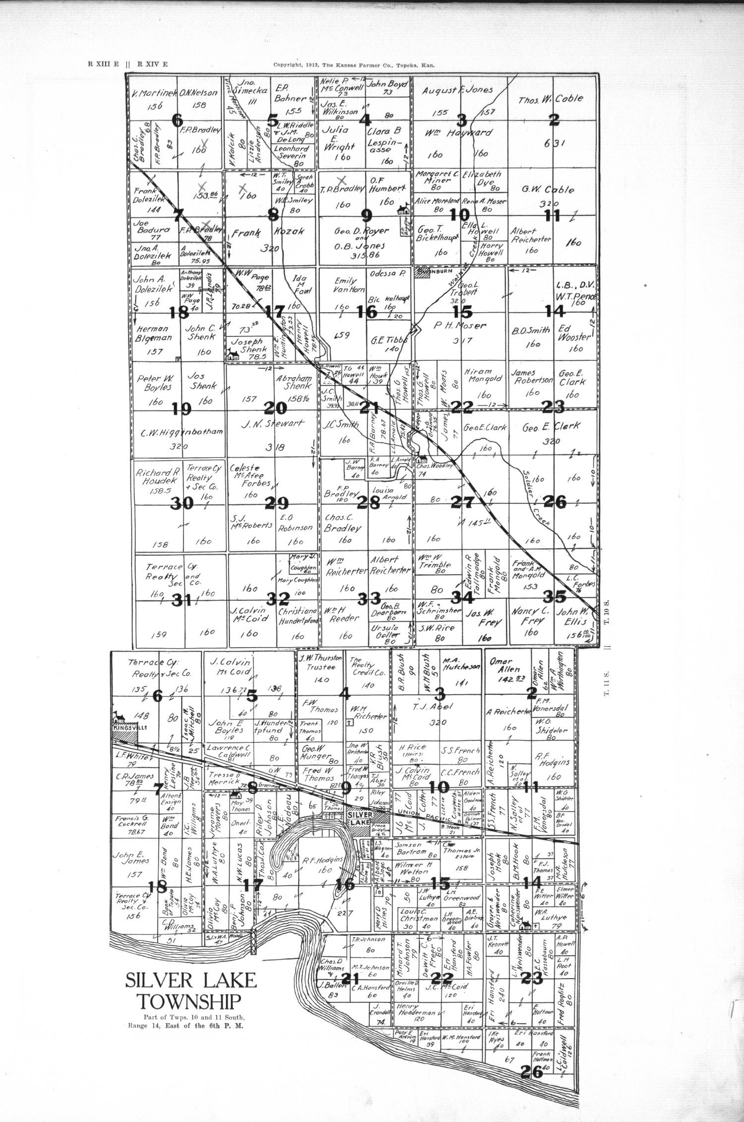Plat book, directory and survey of Shawnee County, Kansas - 9
