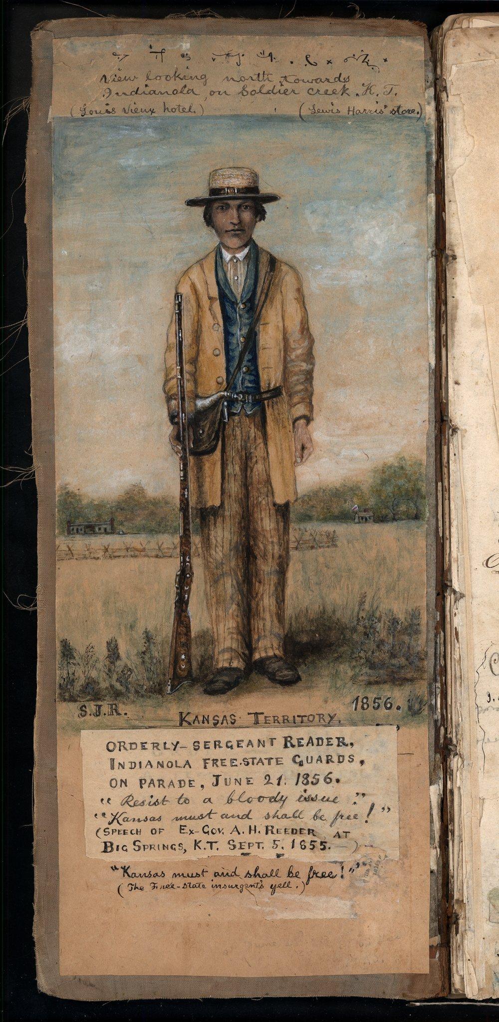 Samuel Reader's diary, volume 3 - Inside cover