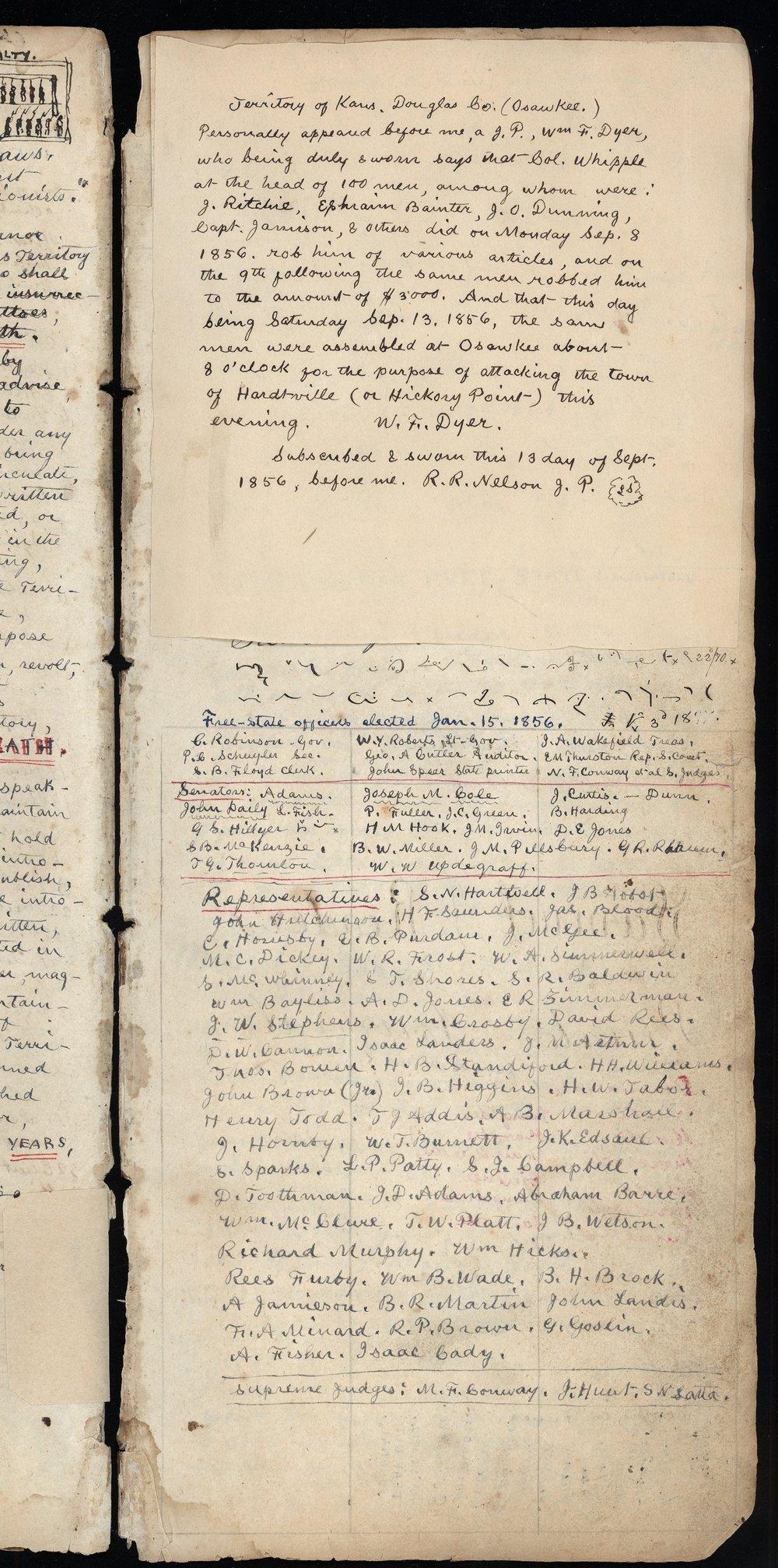 Samuel Reader's diary, volume 3 - V
