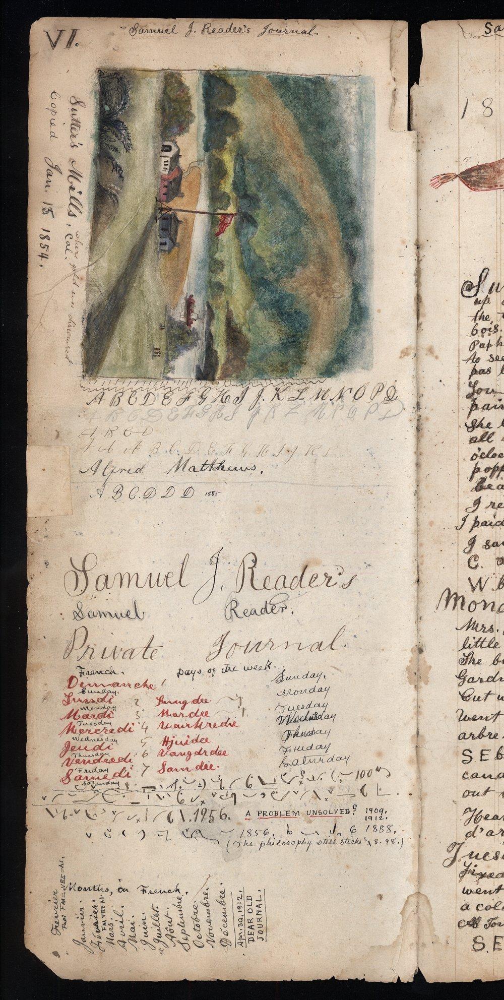 Samuel Reader's diary, volume 3 - VI