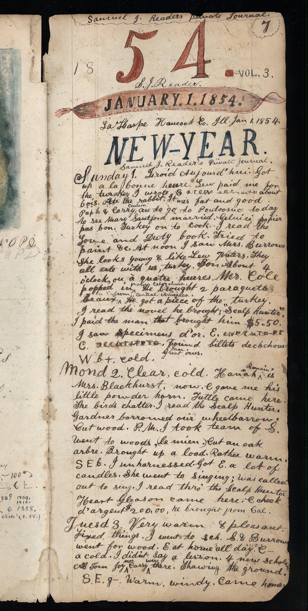 Samuel Reader's diary, volume 3 - 7