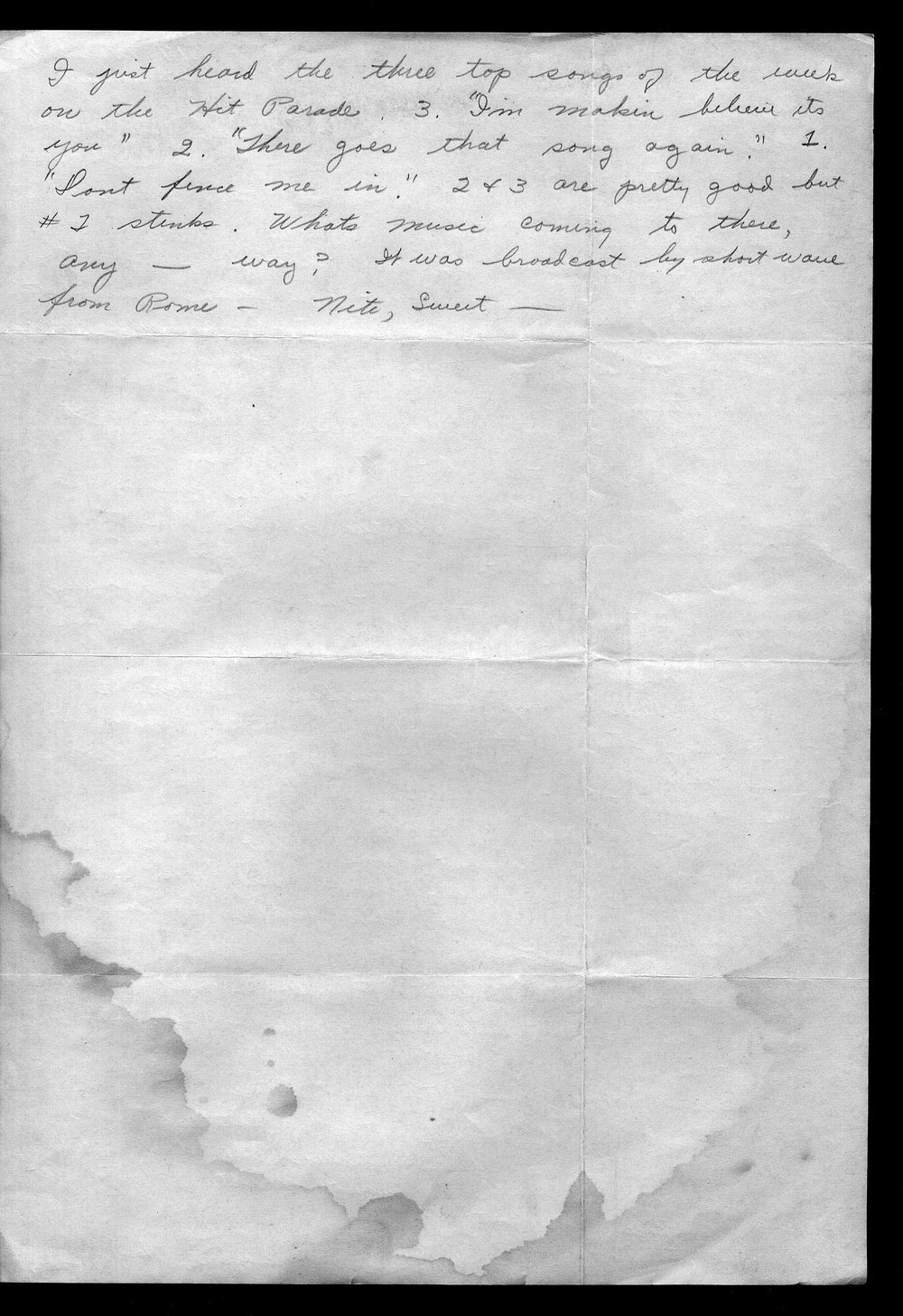 Letters from Hilton Parris Mize to his wife Irene Rosenberger Mize - 4