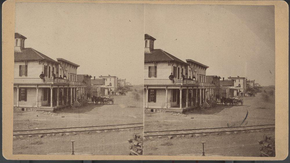 Street scene, Peabody, Kansas