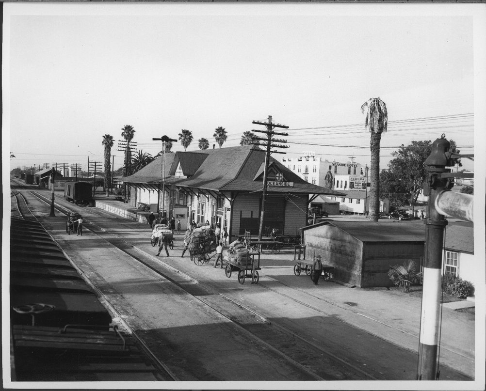 Atchison Topeka And Santa Fe Railway Company Depot Oceanside California Kansas Memory Kansas Historical Society