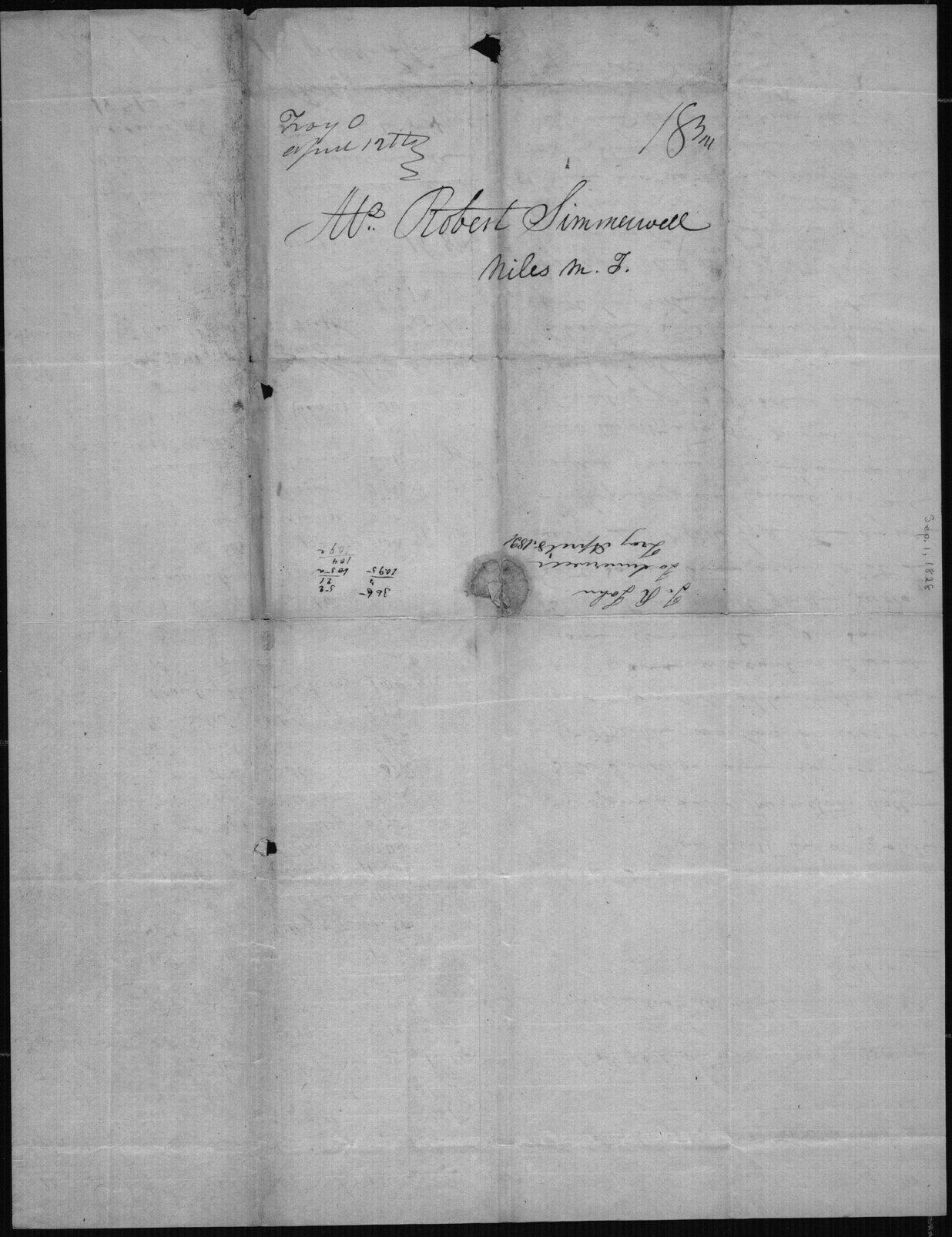 Joseph R. John to Robert Simerwell - 2