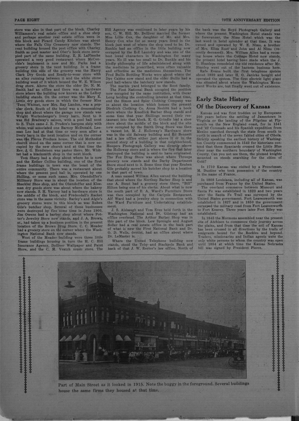70th anniversary edition supplement to the Washington County Register - 8