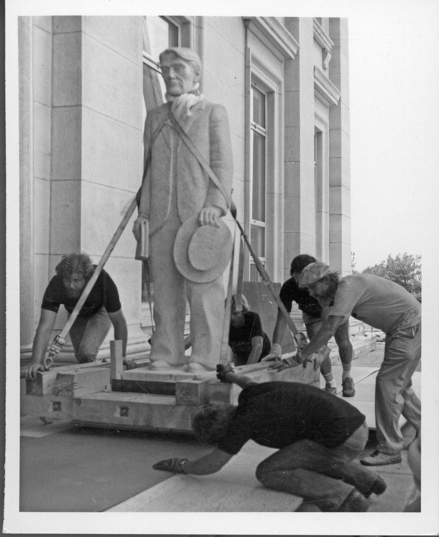Statehouse statues, Topeka, Kansas - 1