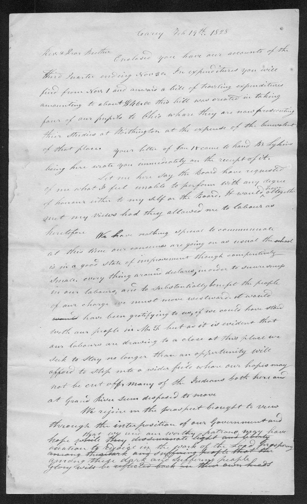 Carey Mission letter, unknown author - 1
