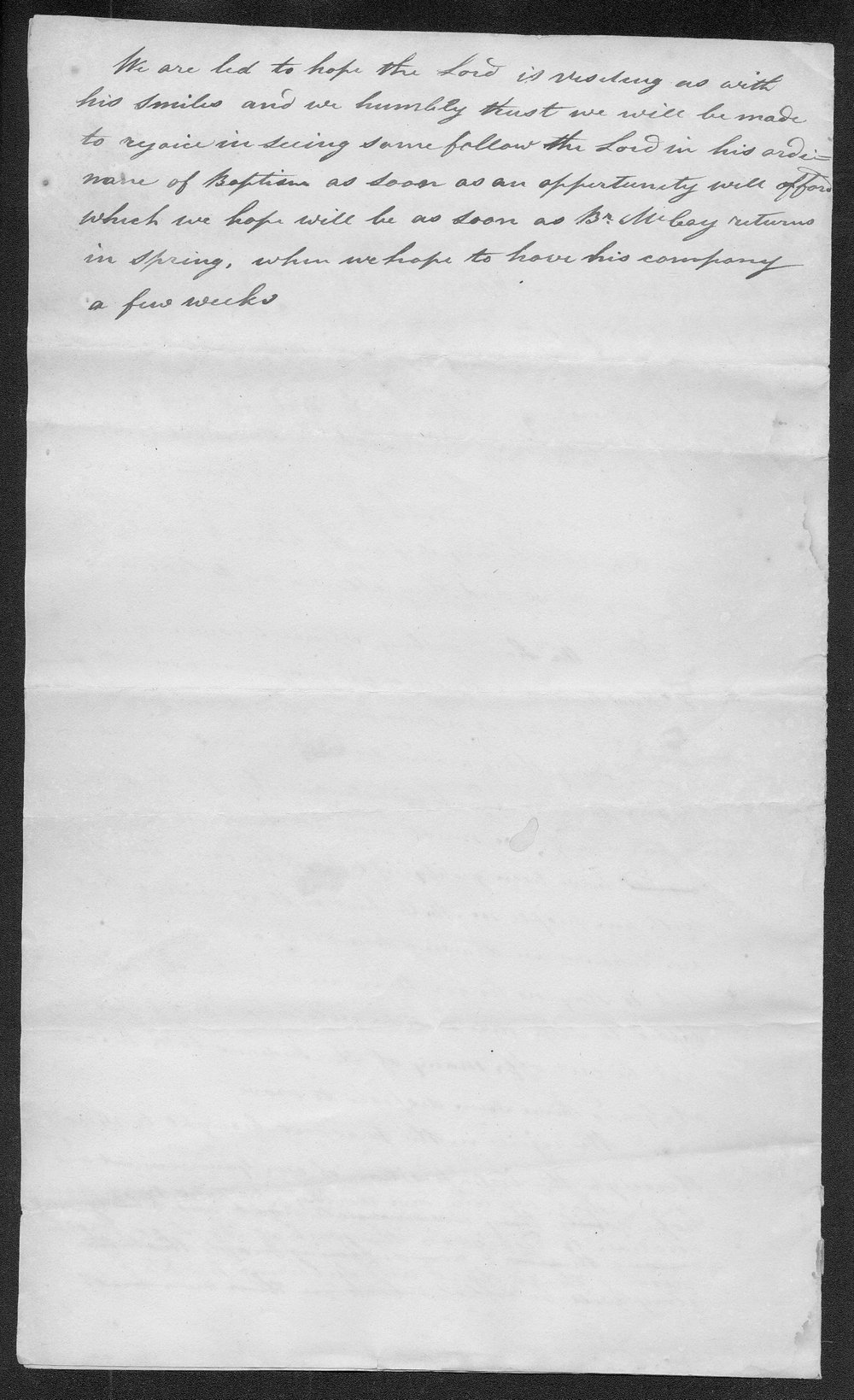 Carey Mission letter, unknown author - 2