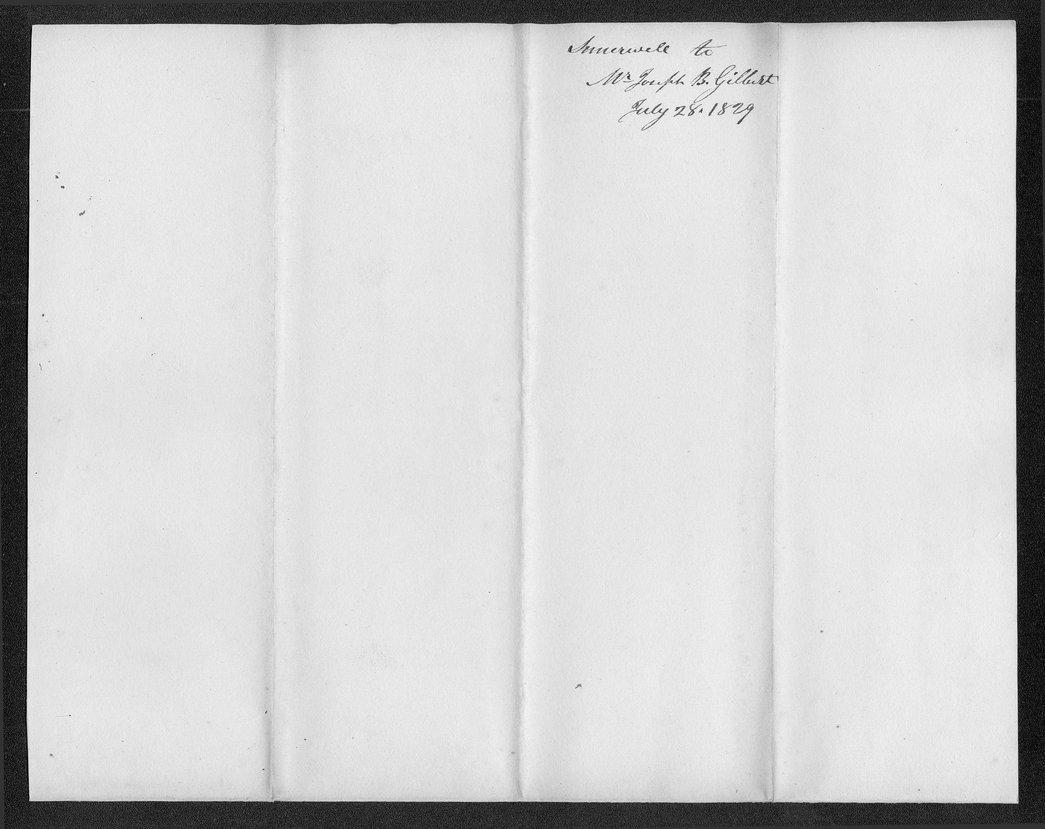 Robert Simerwell to Rev. Joseph B. Gilbert - 3