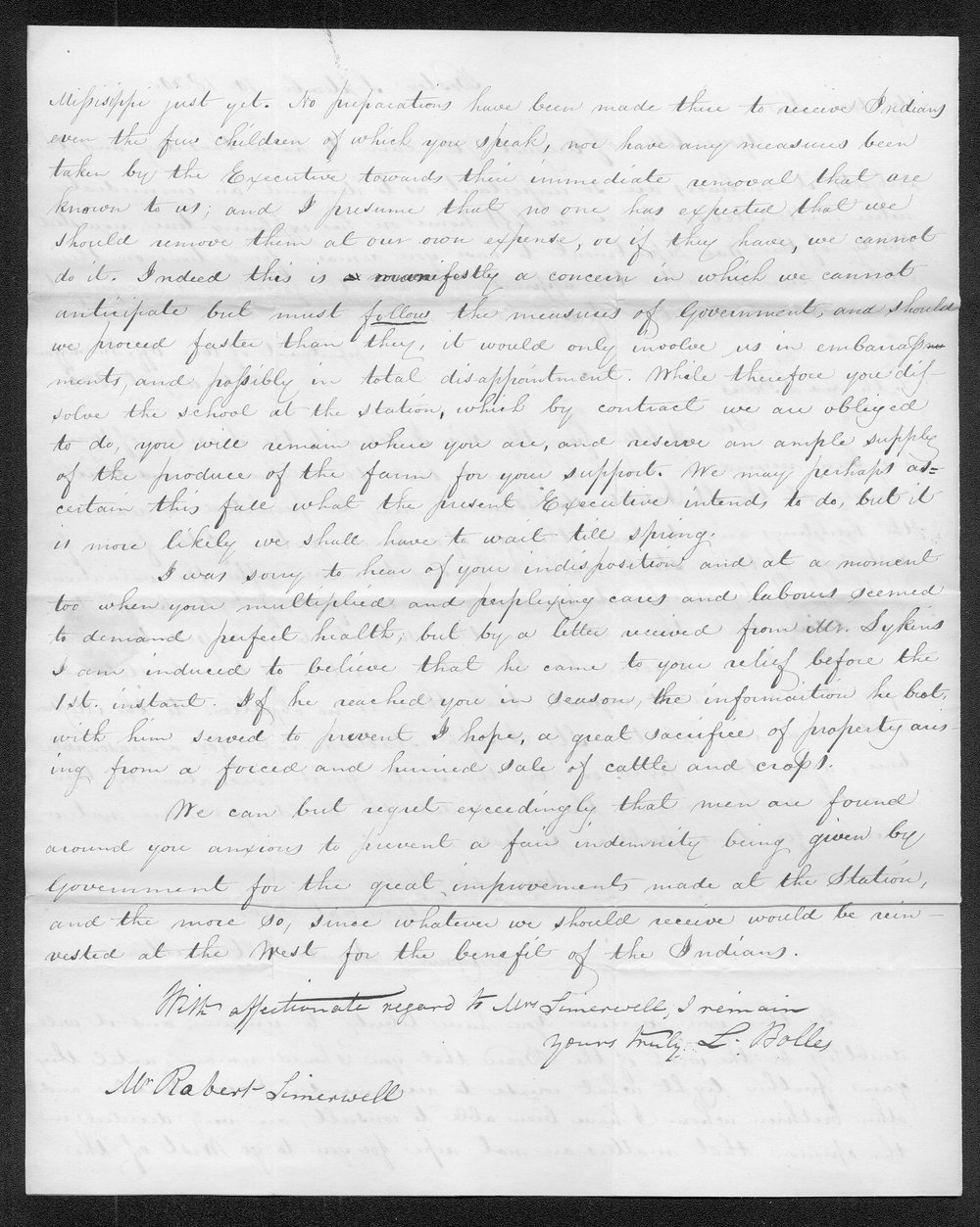 Samuel S. Hamilton to Robert Simerwell - 2