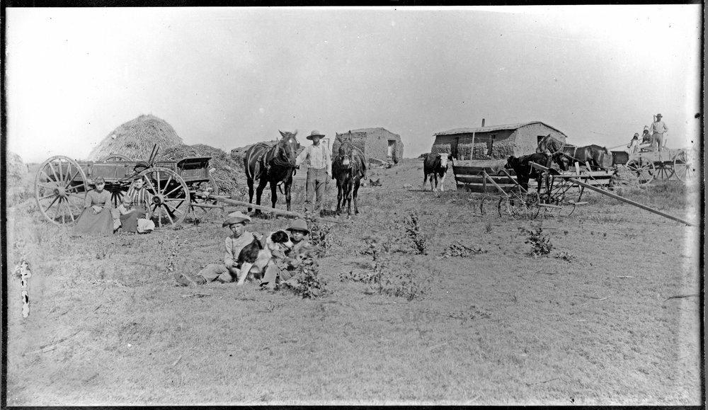 Sheridan County, Kansas, farm scene