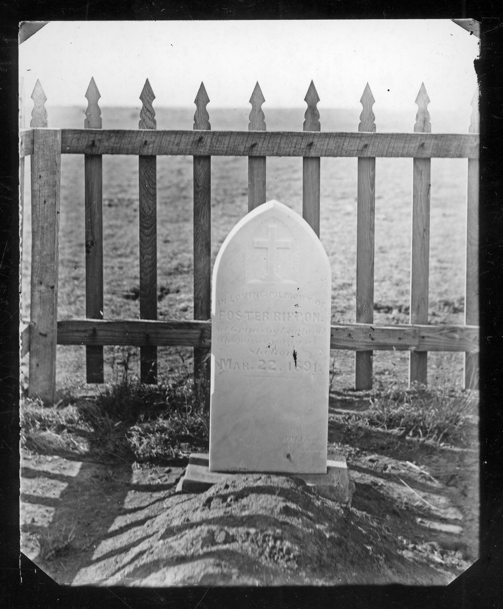 Tombstone near Studley, Kansas