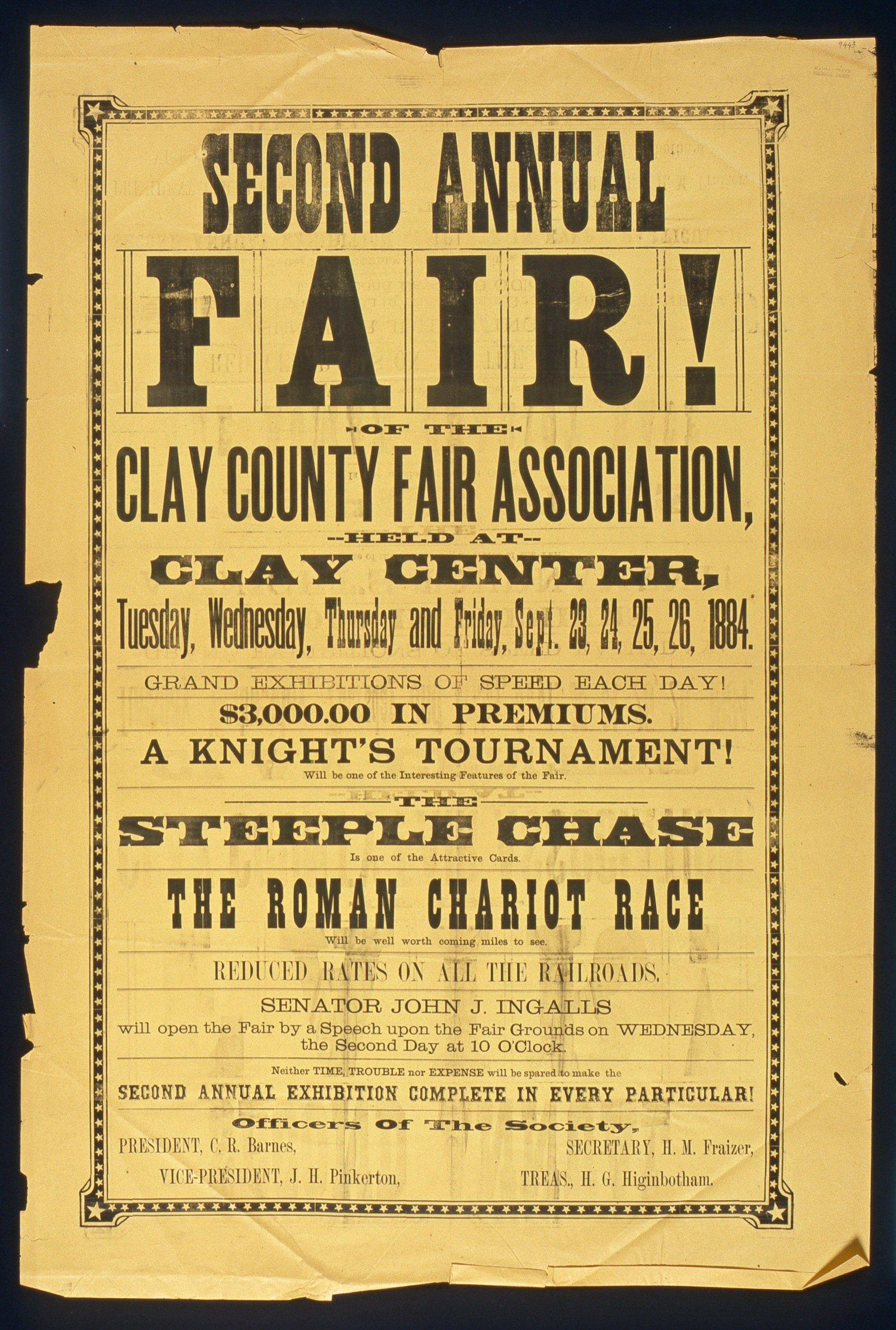 Second annual Clay county fair