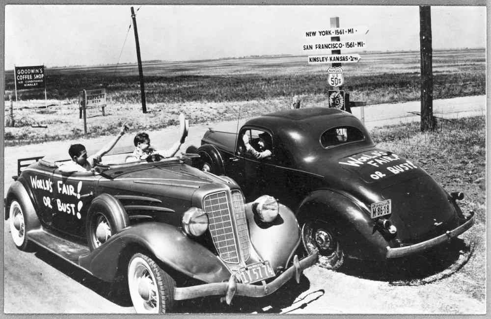 Automobiles, Kinsley, Kansas