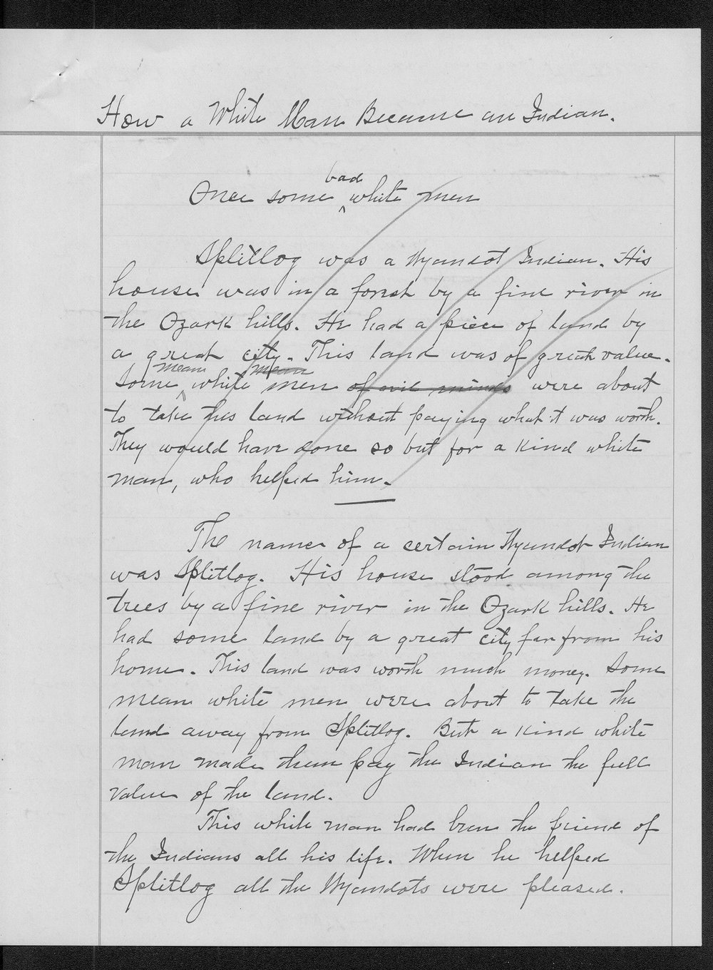 Miss Edna Clyne's manuscript stories and correspondence - 6