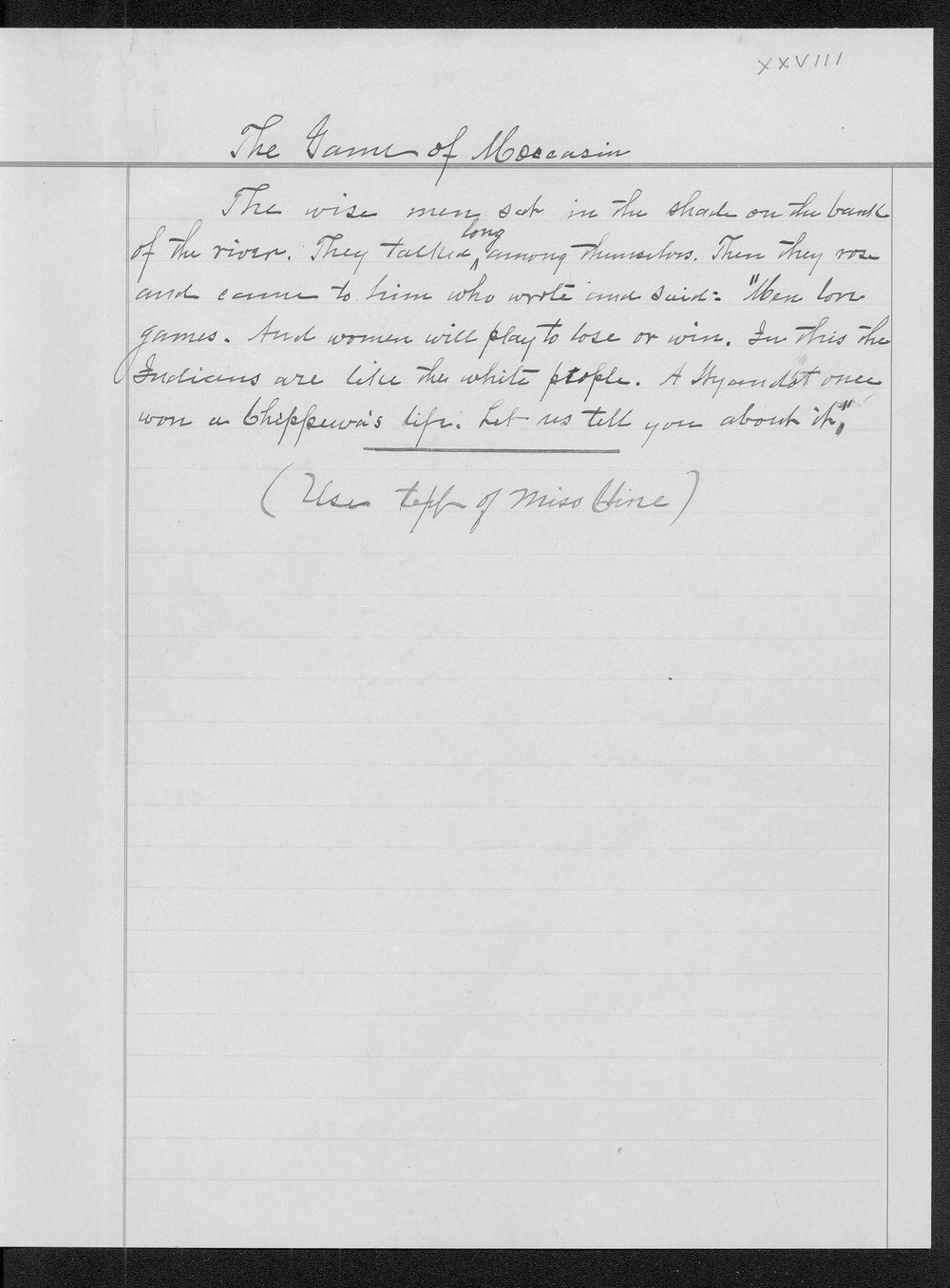 Miss Edna Clyne's manuscript stories and correspondence - 79