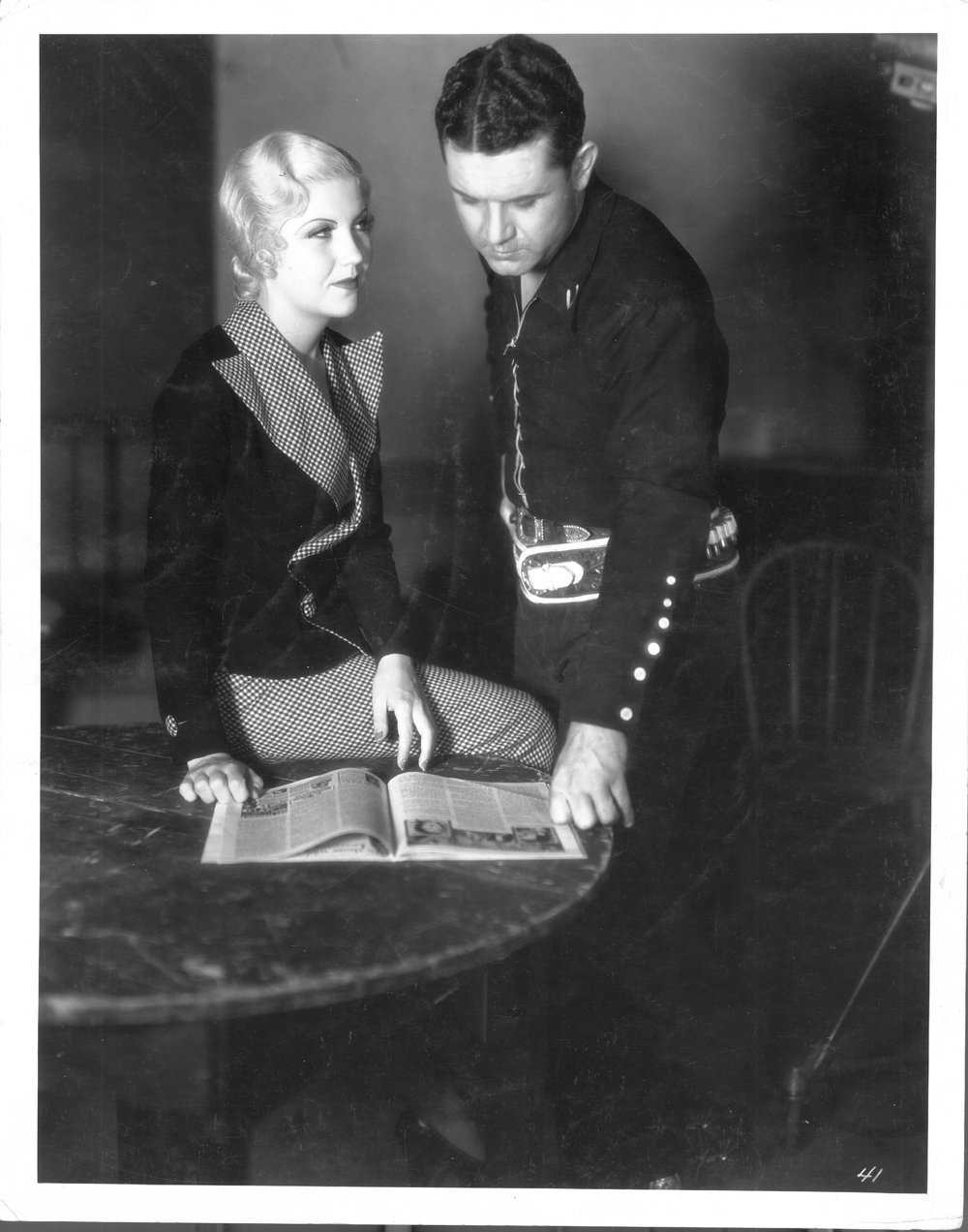 Reb Russell photo collection - Reb posed with one of his leading ladies.  Photo #6