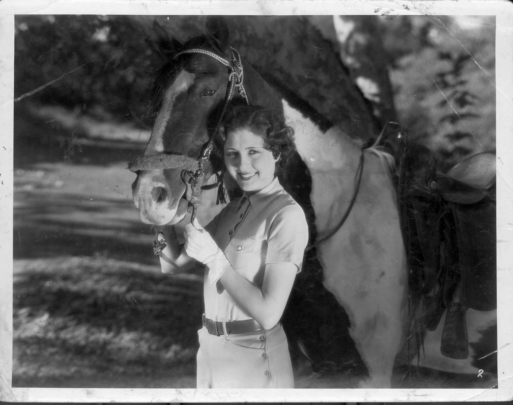 Reb Russell photo collection - Unidentified actress and her horse.  Photo #9