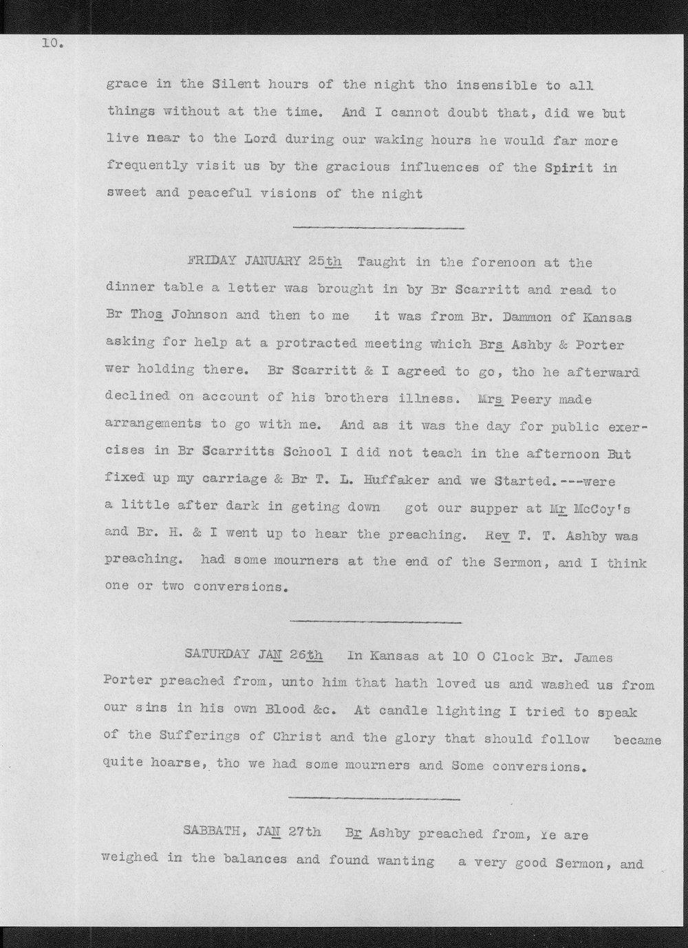 Diary of Reverend John Thompson Peery - 10