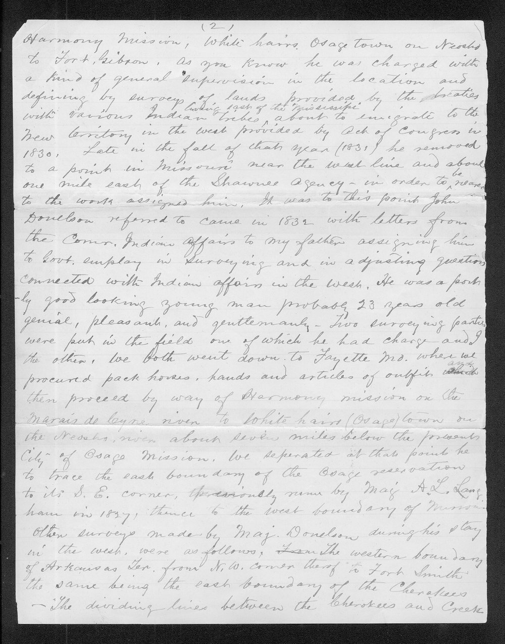John C. McCoy to Franklin G. Adams - 2
