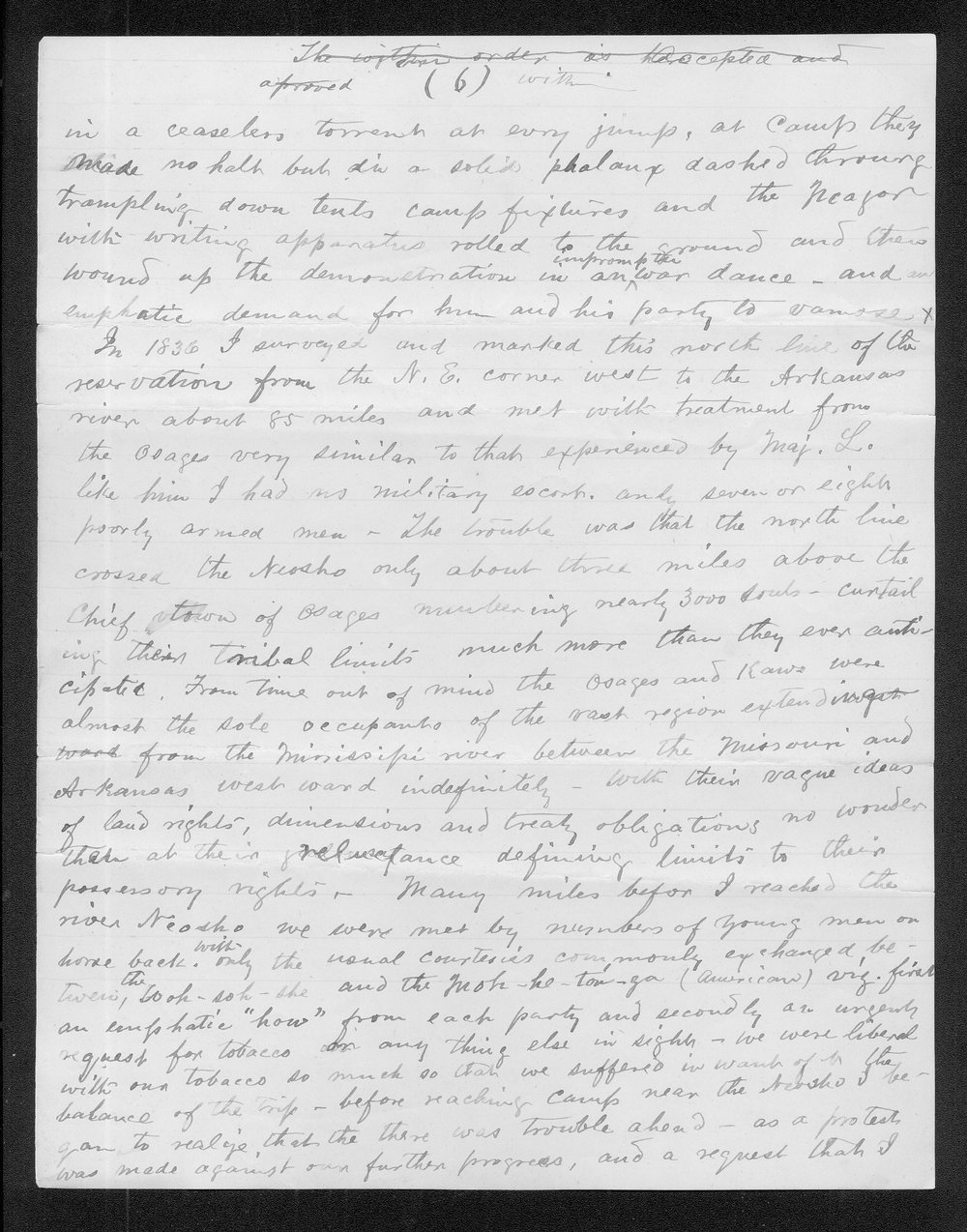 John C. McCoy to Franklin G. Adams - 6
