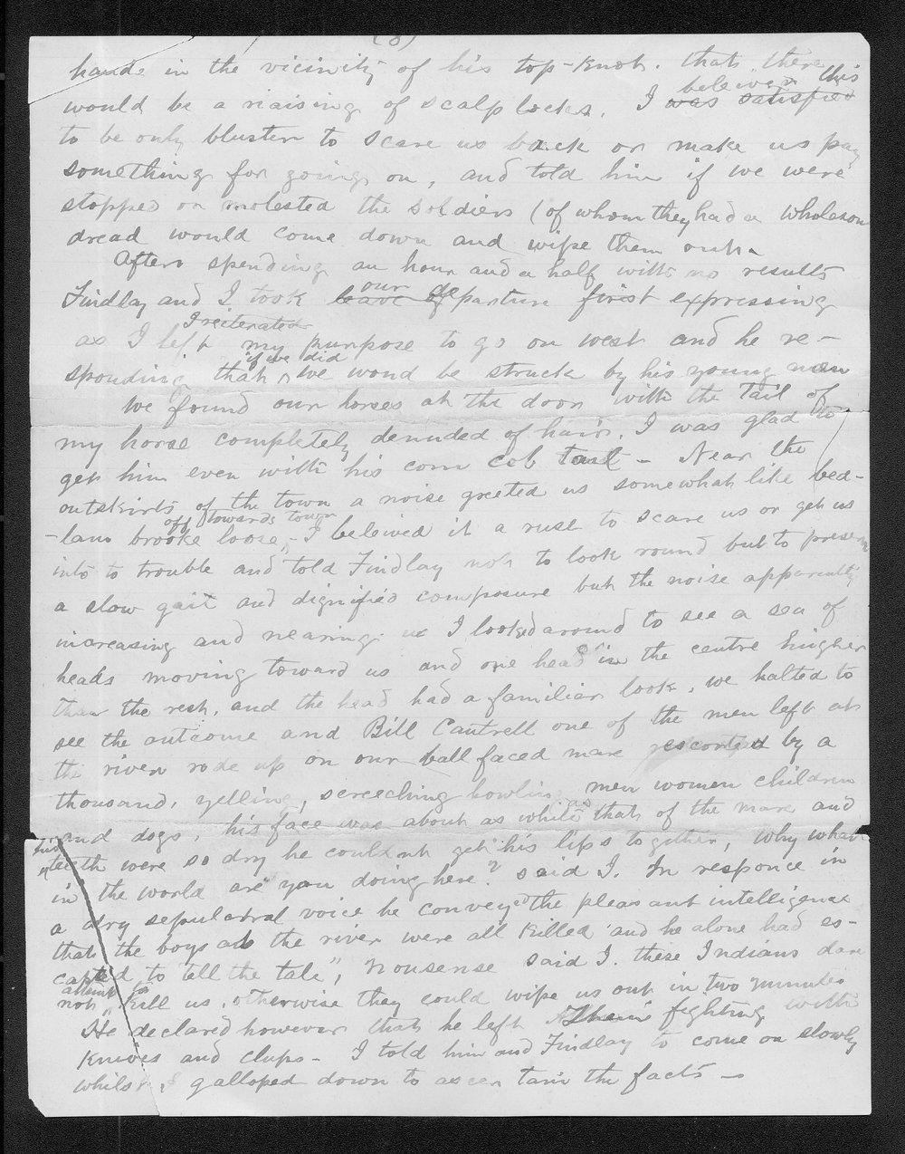 John C. McCoy to Franklin G. Adams - 8