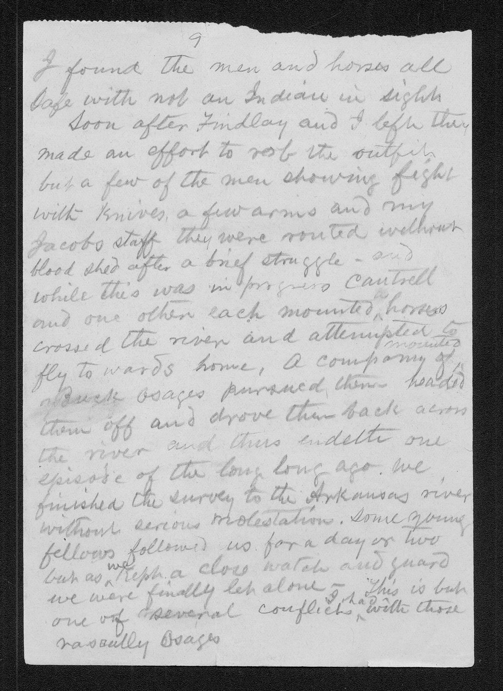 John C. McCoy to Franklin G. Adams - 9