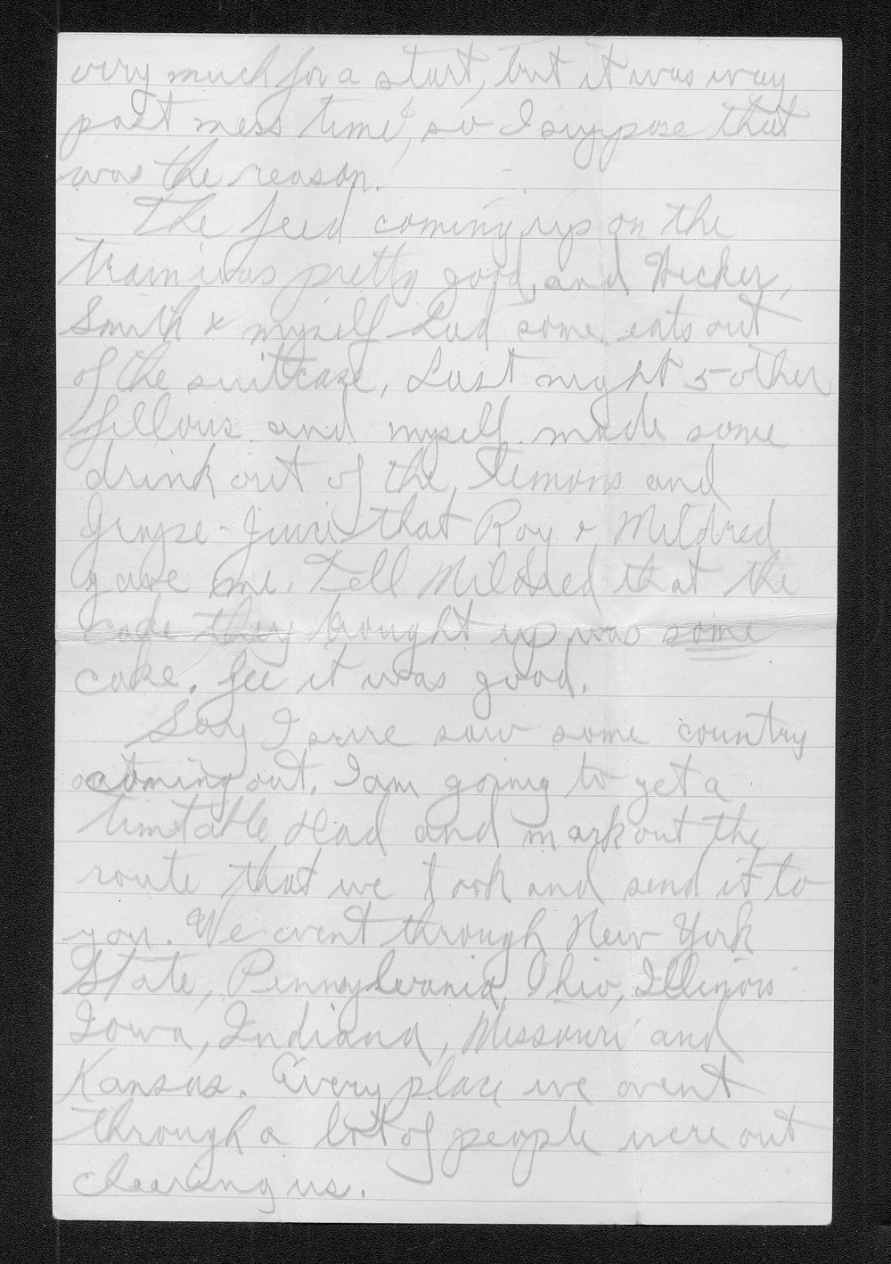 Clark Bruster to his family - 4