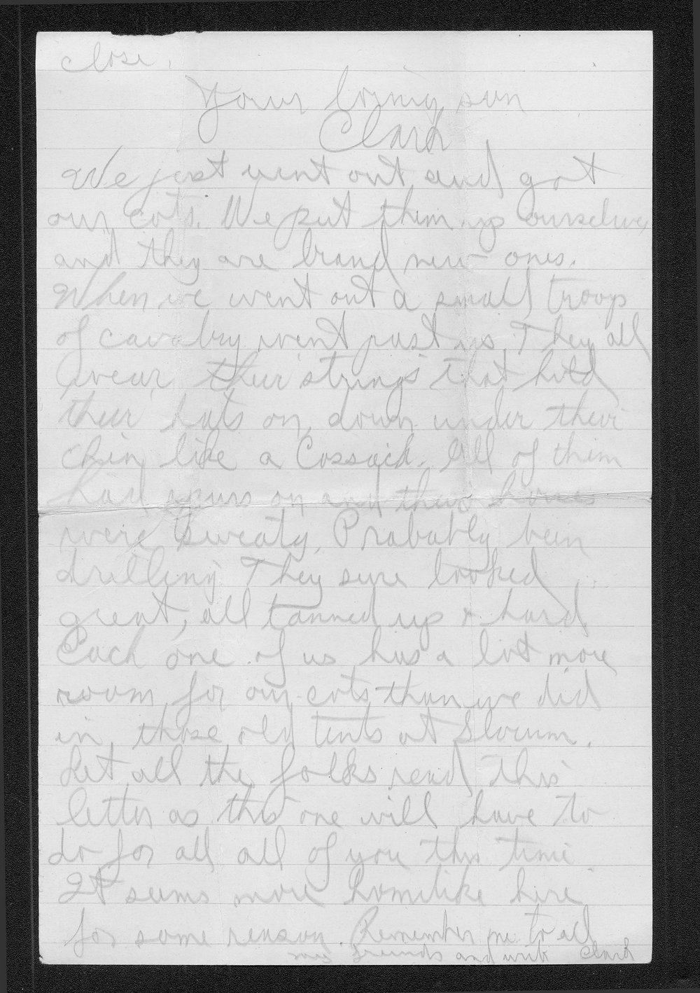 Clark Bruster to his family - 6