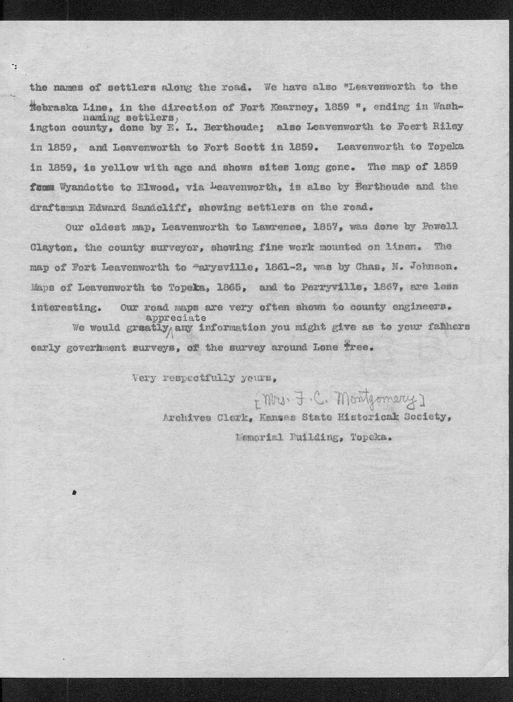 Correspondence on the Lone Tree massacre, Meade County - 4
