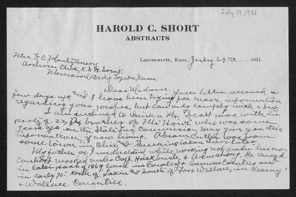 Correspondence on the Lone Tree massacre, Meade County - 9