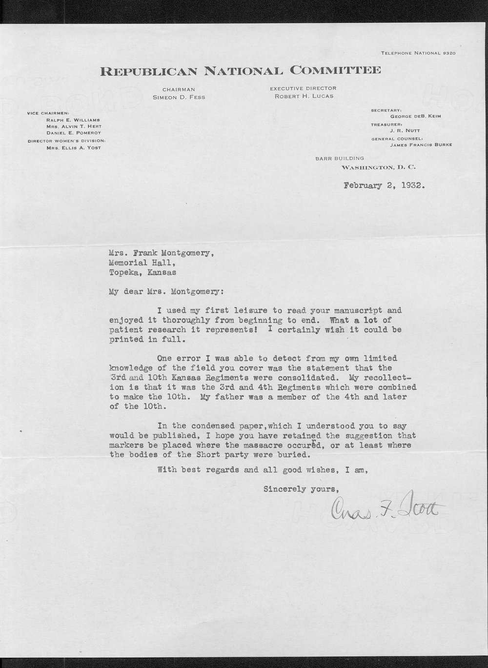 Correspondence on the Lone Tree massacre, Meade County - 18