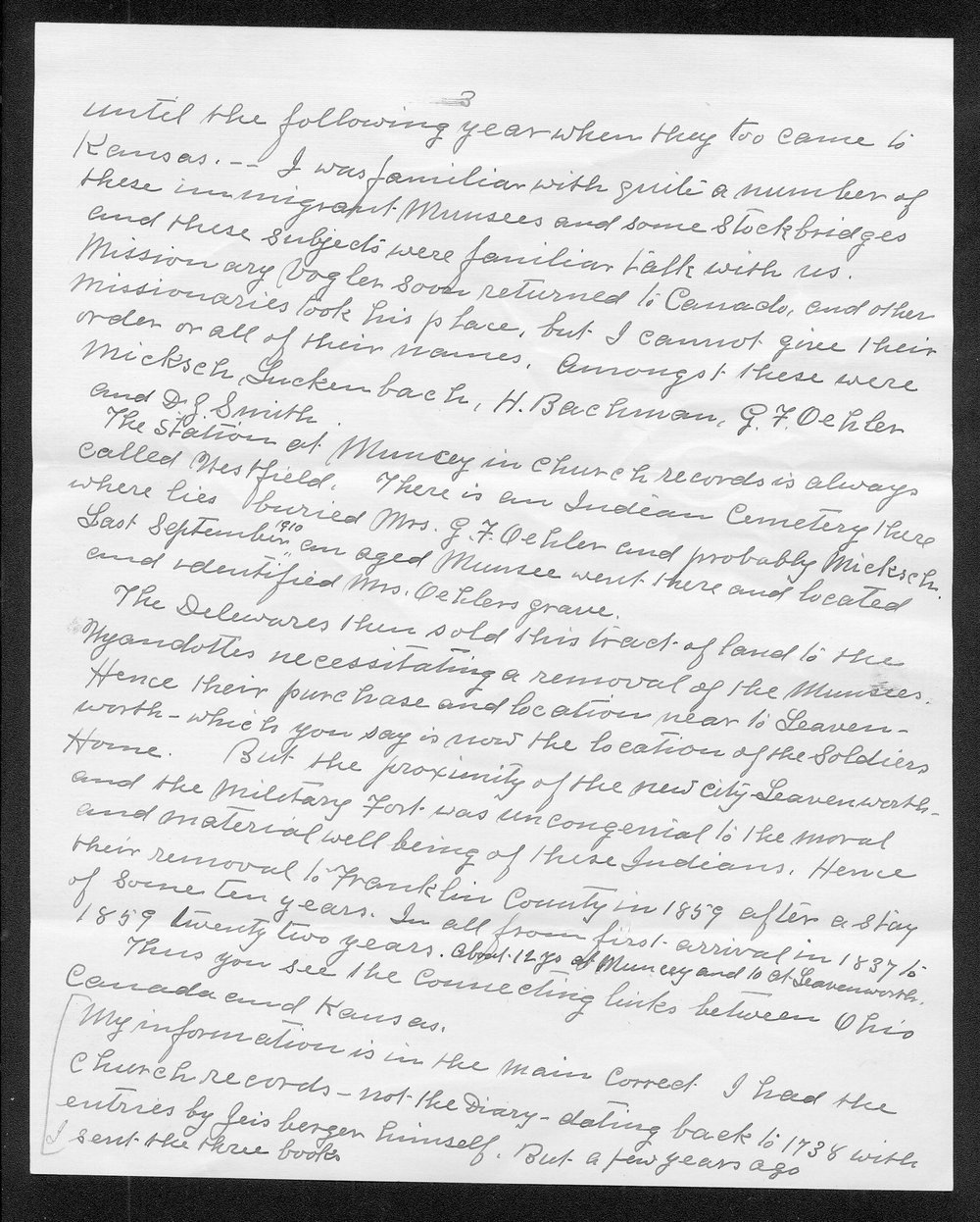 Joseph Romig to George W. Martin - 3